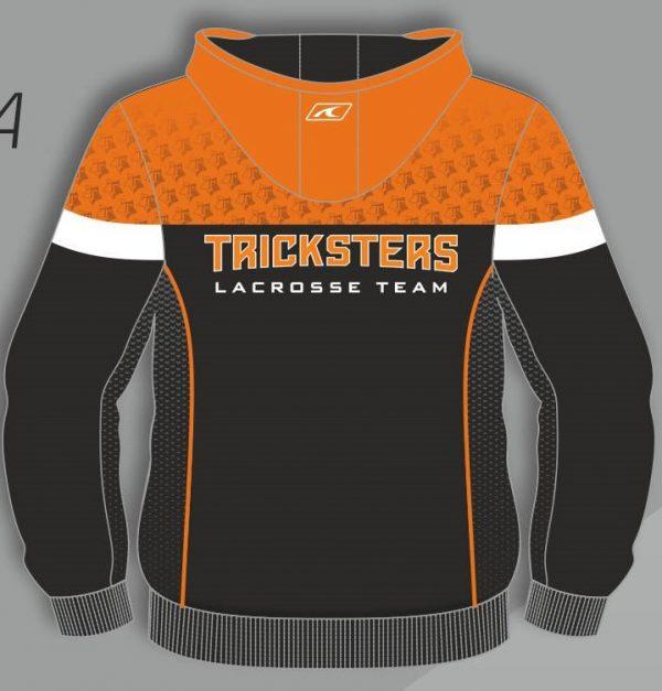 Tricksters lacrosse hoodie back side